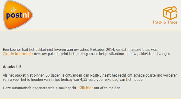 postnl phishing
