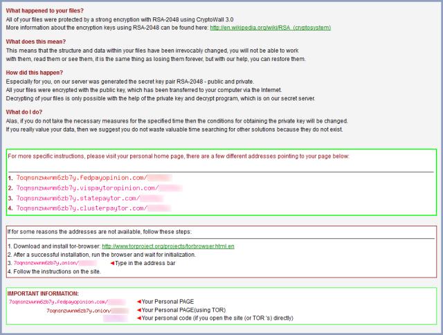 CryptoWall ransom note